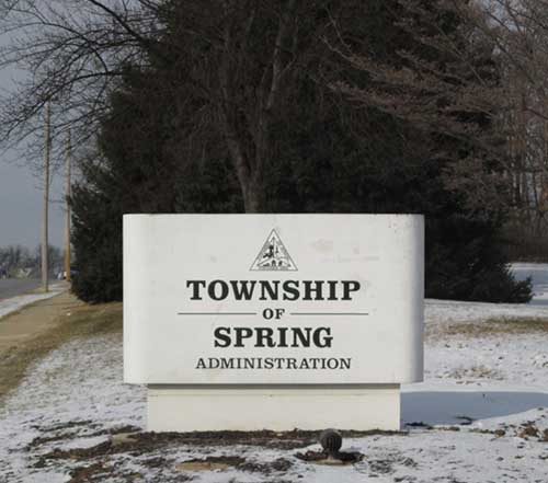 Township Offices are located at 2850 Windmill Road.