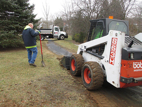 The walking trail at Drexelwood Park is being restored by Township staff.