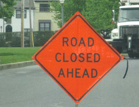 For everyone's safety – please obey Road Work signs.