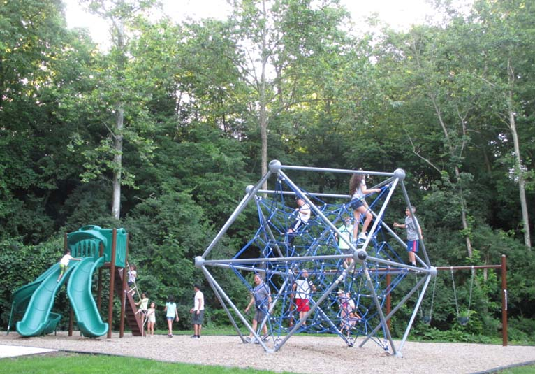 Everyone enjoyed the play equipment during the Great American Campout!